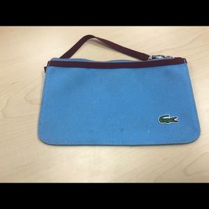 Preowned Lacoste Blue Wristlet